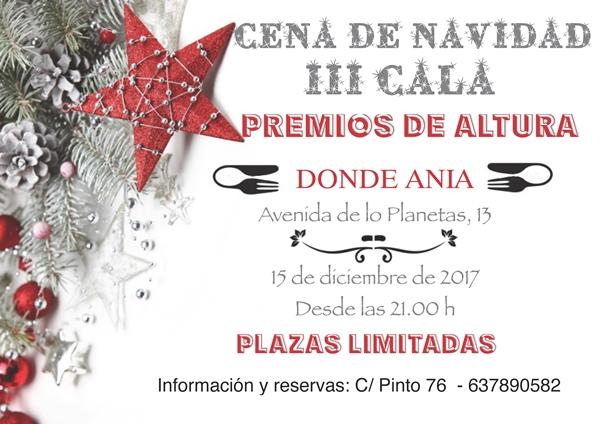 Cena de Navidad 2017 (III Gala Premios de Altura)